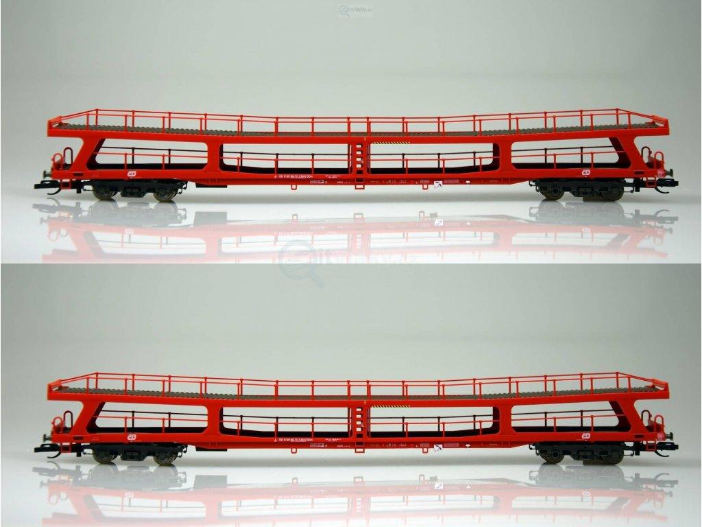 ARCHIV TT - set dvou vozů ČD DDm 915 pro přepravu automobilů / Tillig 01670