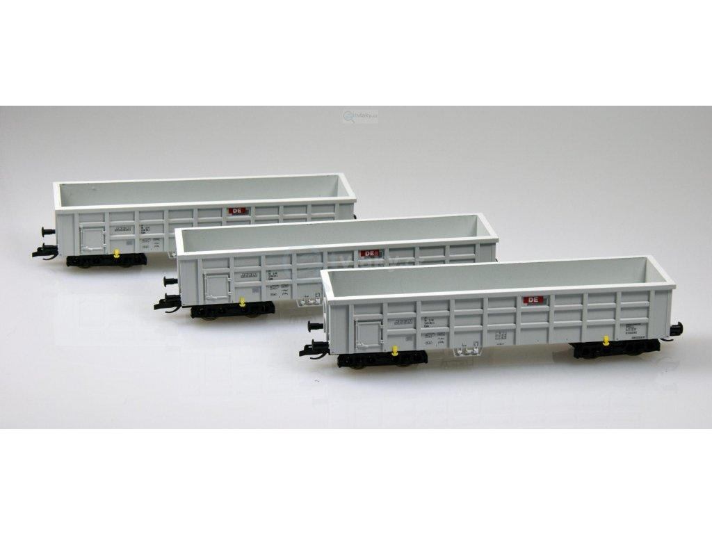 TT - 3-dílný set otevřených nákladních vozů Eaos / TILLIG 01713