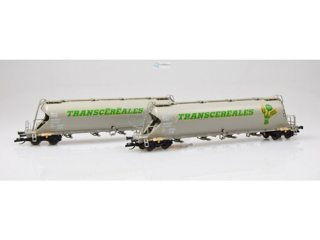 """TT - 2-dílný set vozů na přepravu sypkých hmot """"TRANSCEREALES"""" /  TILLIG 01715"""
