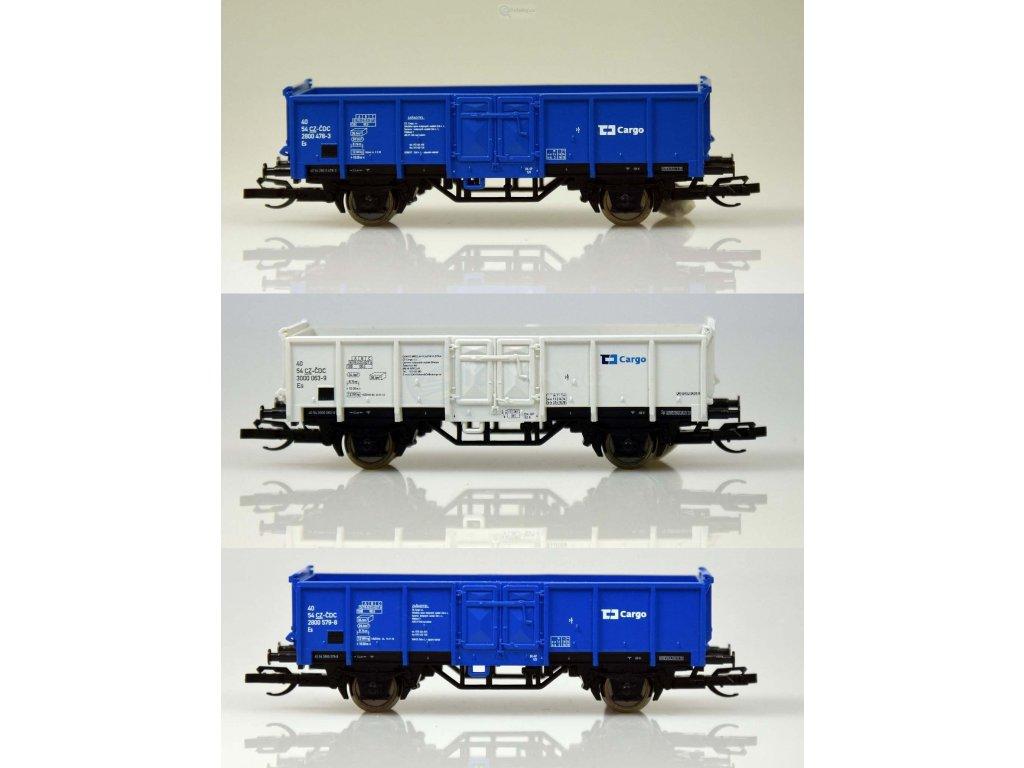 ARCHIV TT - 3-dílný set otevřených nákladních vozů Es, ČD / TILLIG 01716