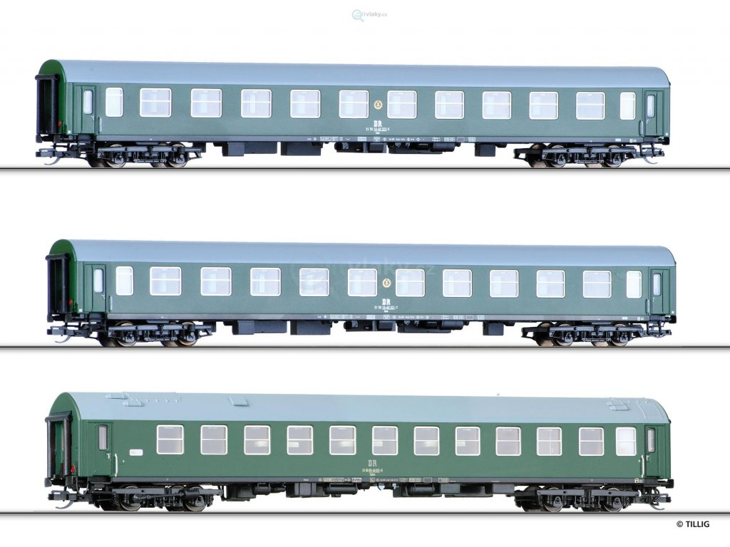 230839 tt set 3 rychlikovych vozu wlab dr tillig 01722