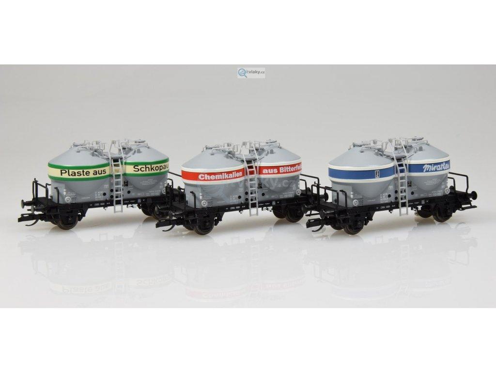 ARCHIV TT - 3-dílný set nákladních vozů na přepravu prachu Ucs, DR / TILLIG 01732 E