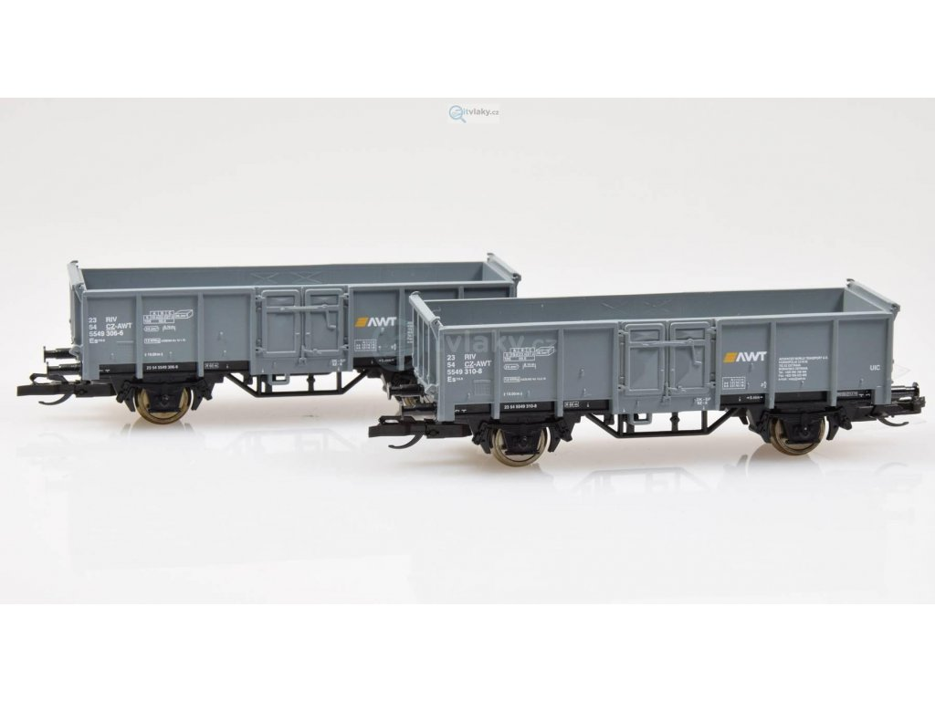 TT - set dvou nákladních vozů Es CZ-AWT / Tillig 01744