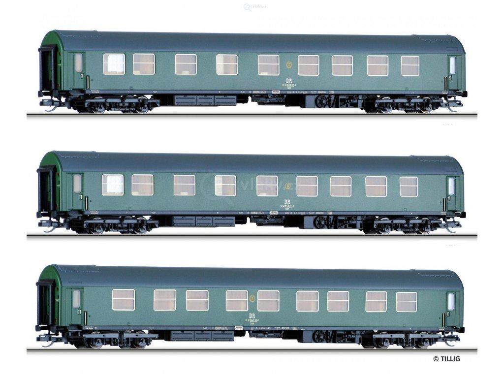 "TT - set 3 vládních vozů ""Salonwagenzug 1"",  DR / TILLIG 01759"