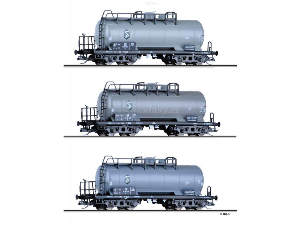 TT -  set 3 cisternových vozů, DR/ Tillig 01769