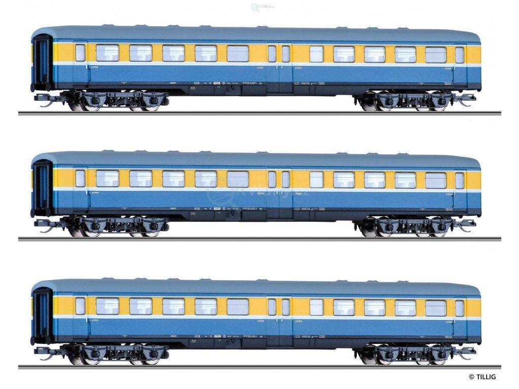 TT - Souprava tří osobních vozů, DR / Tillig 01775