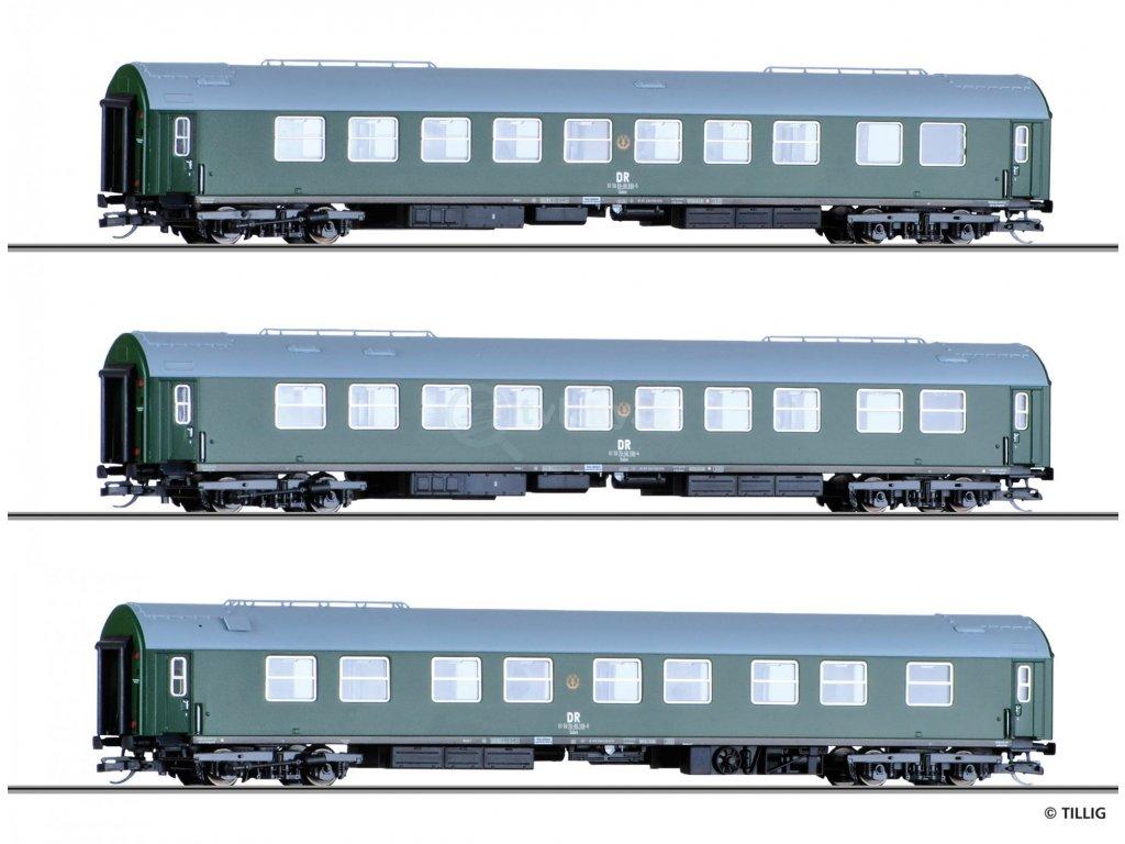 TT - Souprava tří osobních vozů, DR / Tillig 01778