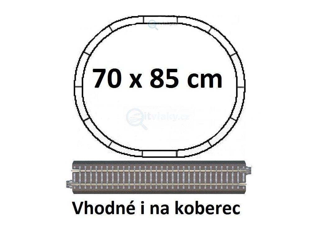 TT zákl.set kolejí 70x85,s podložím, betonové pražce, ovál R310 / Tillig 01830