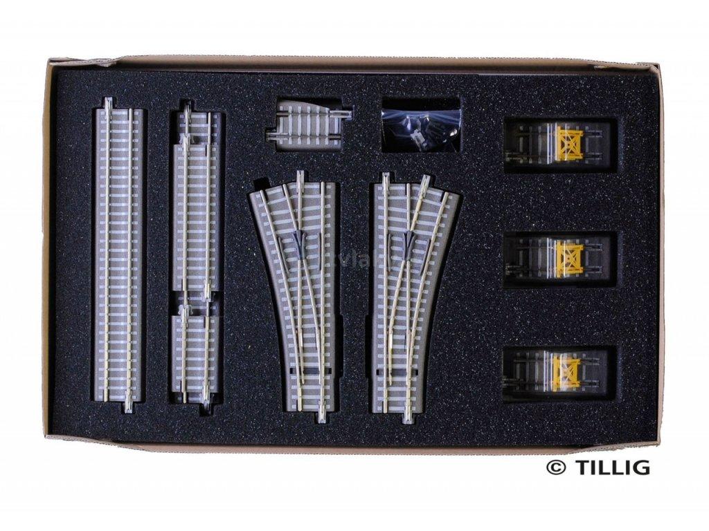 """TT - rozšiřující set kolejiva """"nákladové nádraží"""" / Tillig 01836"""