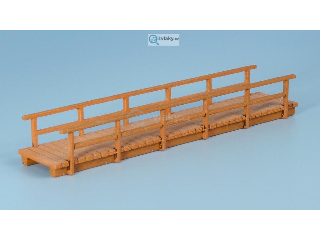 TT - Dřevěný most úzký, dlouhý - světlý / Veramo TT 020203