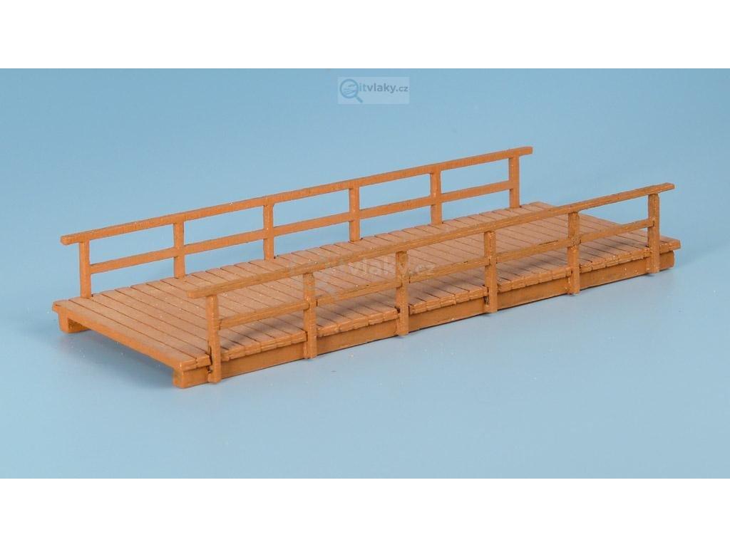 TT - Dřevěný most, široký, dlouhý - světlý / Veramo 020204