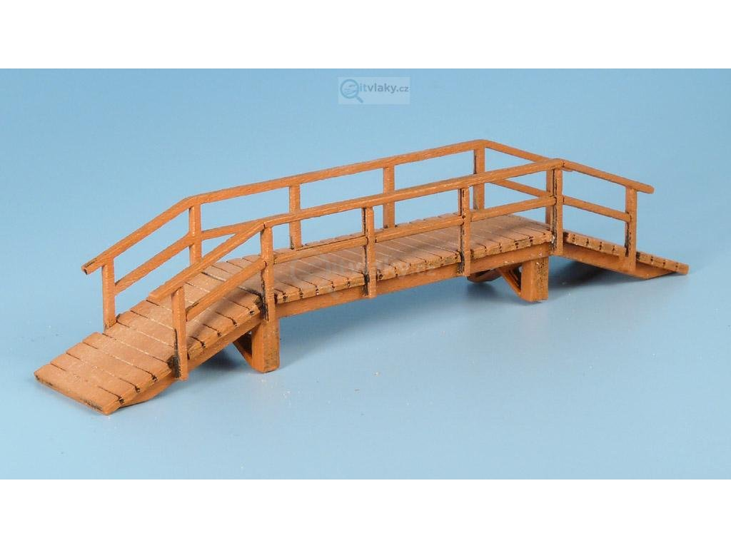 TT - Dřevěný most, úzký, vyvýšený - světlý / Veramo 020205