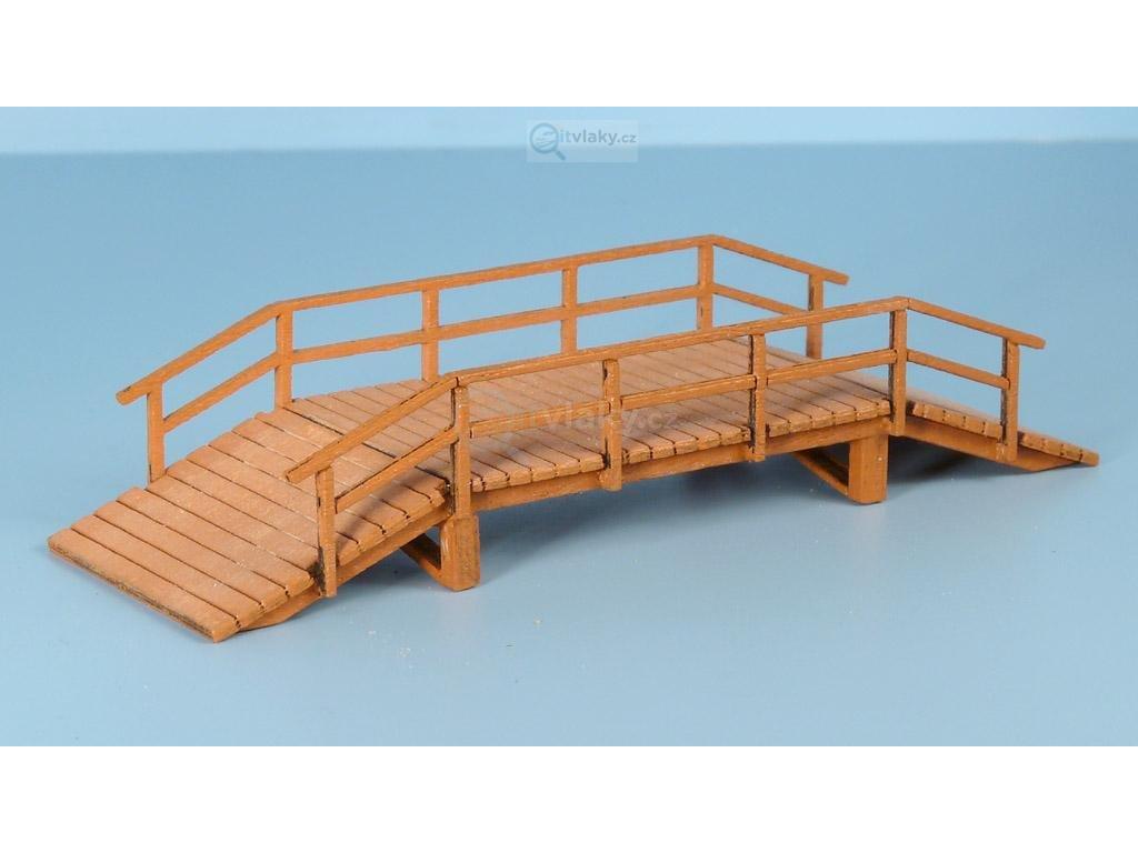 TT - Dřevěný most, široký, vyvýšený - světlý / Veramo 020206