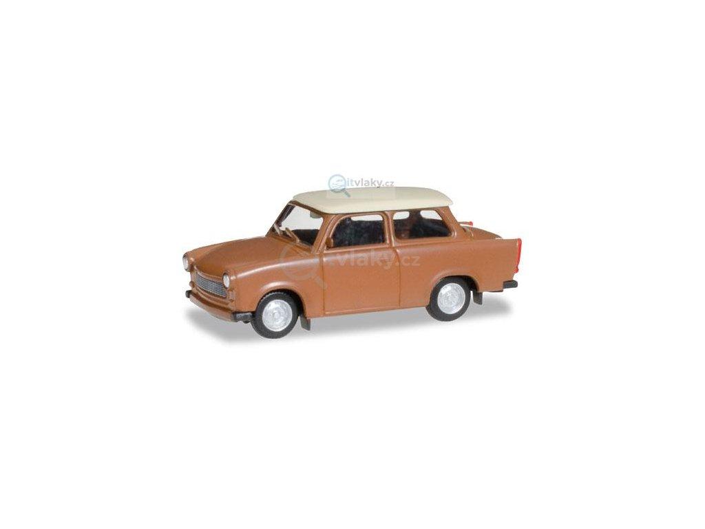 H0 - Trabant 601 Limousine, hnědá / Herpa 020763-004