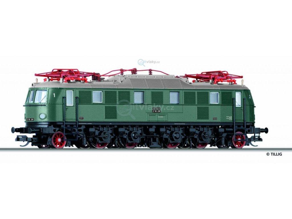 TT - Elektrická lokomotiva E 18, DB / TILLIG 02457