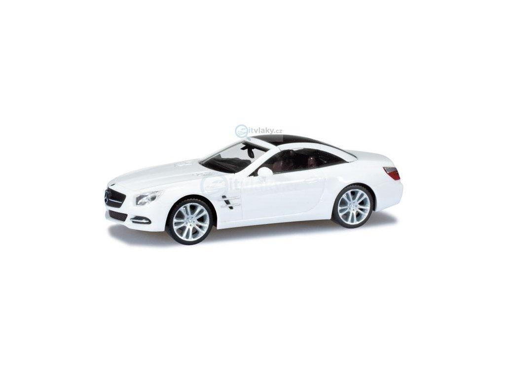 H0 - MB SL-Klasse kabriolet, bílý / Herpa 024839
