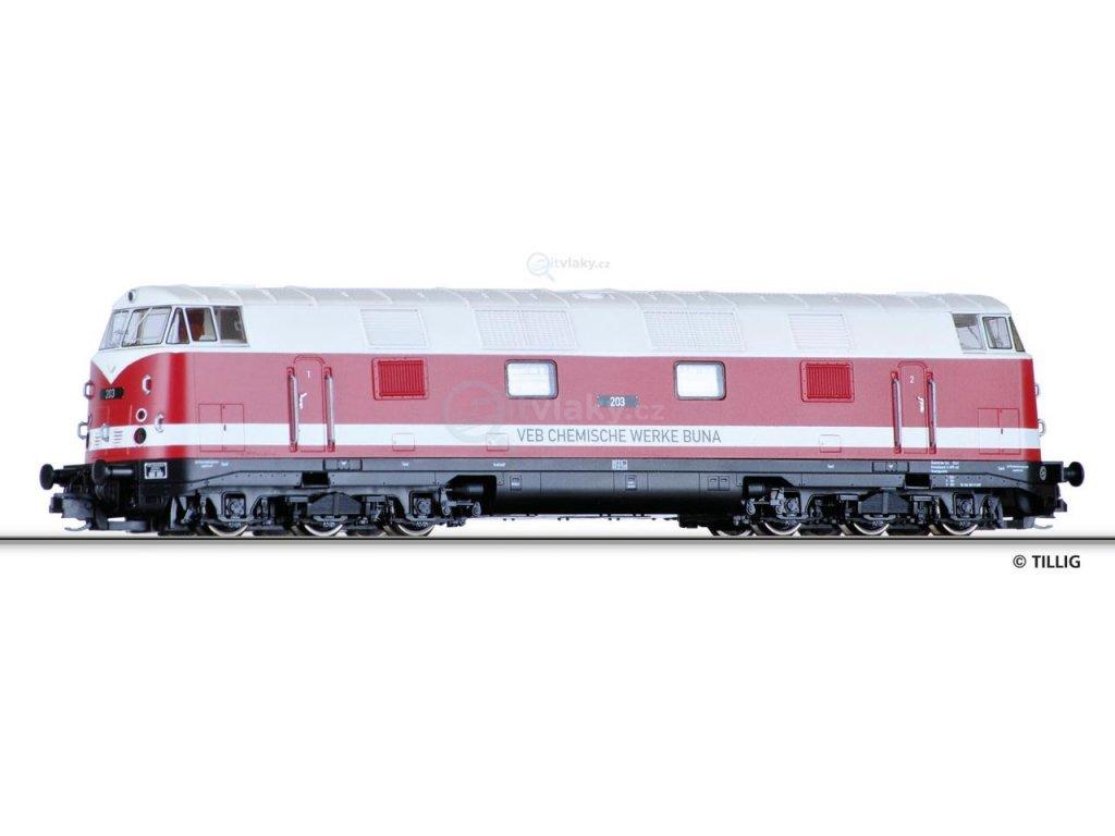 "TT -  dieselová lokomotiva ""VEB Chemischen Werke Buna""/ TILLIG 02697"