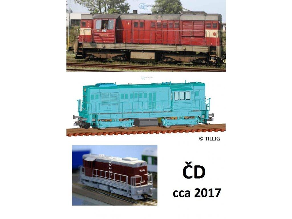 ARCHIV TT - lokomotiva 742 ČD ( T466.2) KOCOUR / Tillig 02750CD