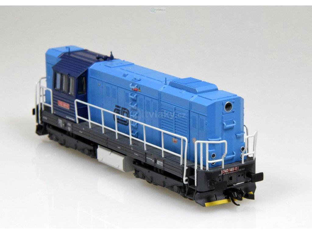 TT - dieselová lokomotiva 742 ČD modrá, Kocour, Ep. VI / Tillig 02751