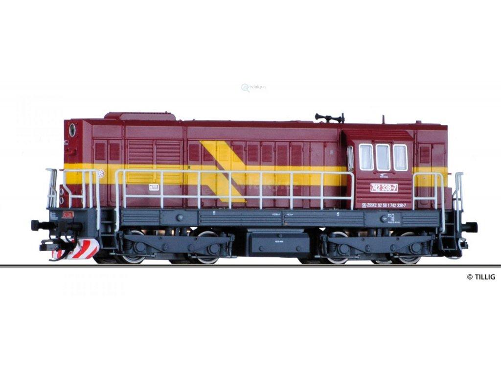 TT - dieselová lokomotiva 742 ZSSK, KOCOUR / Tillig 02752