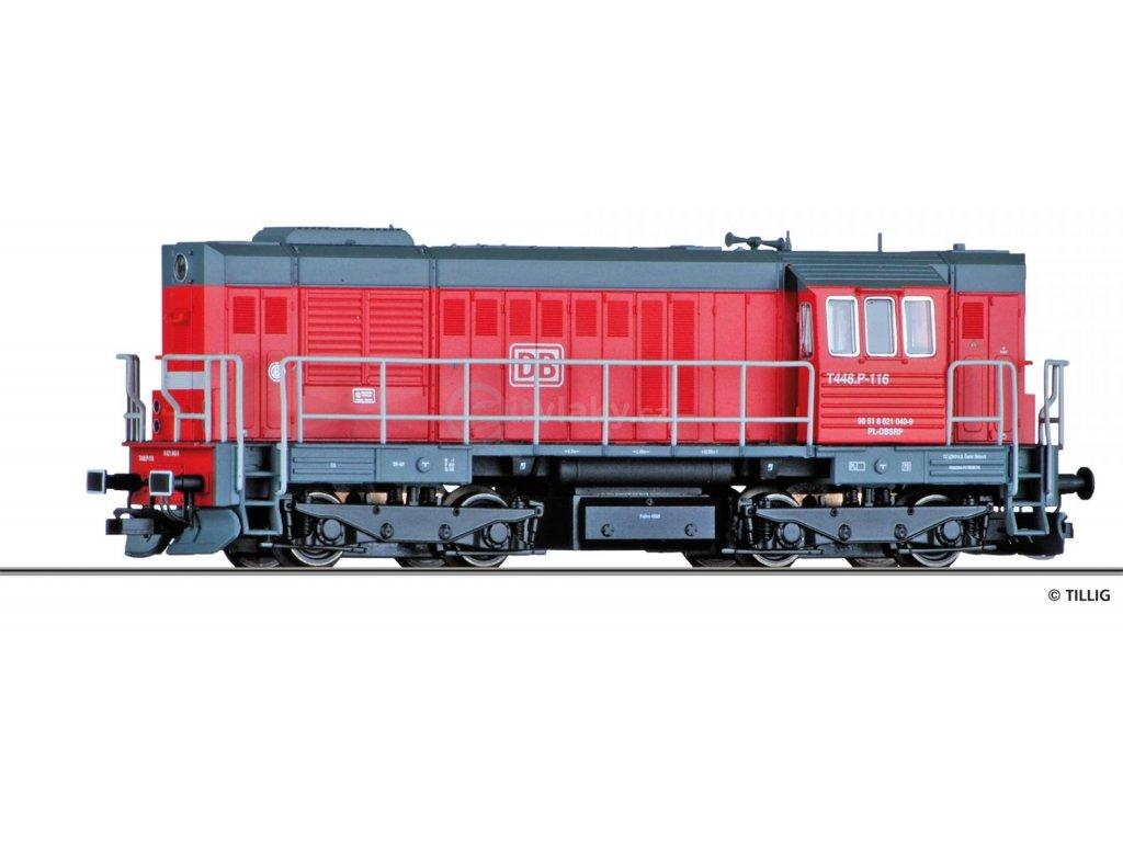 TT - lokomotiva T448p / 620, DB Schenker rail Polska (Kocour) / Tillig 02754