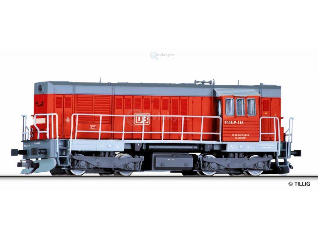 TT - lokomotiva T448p / 620 , DB Schenker rail Polska (Kocour) / Tillig 02754