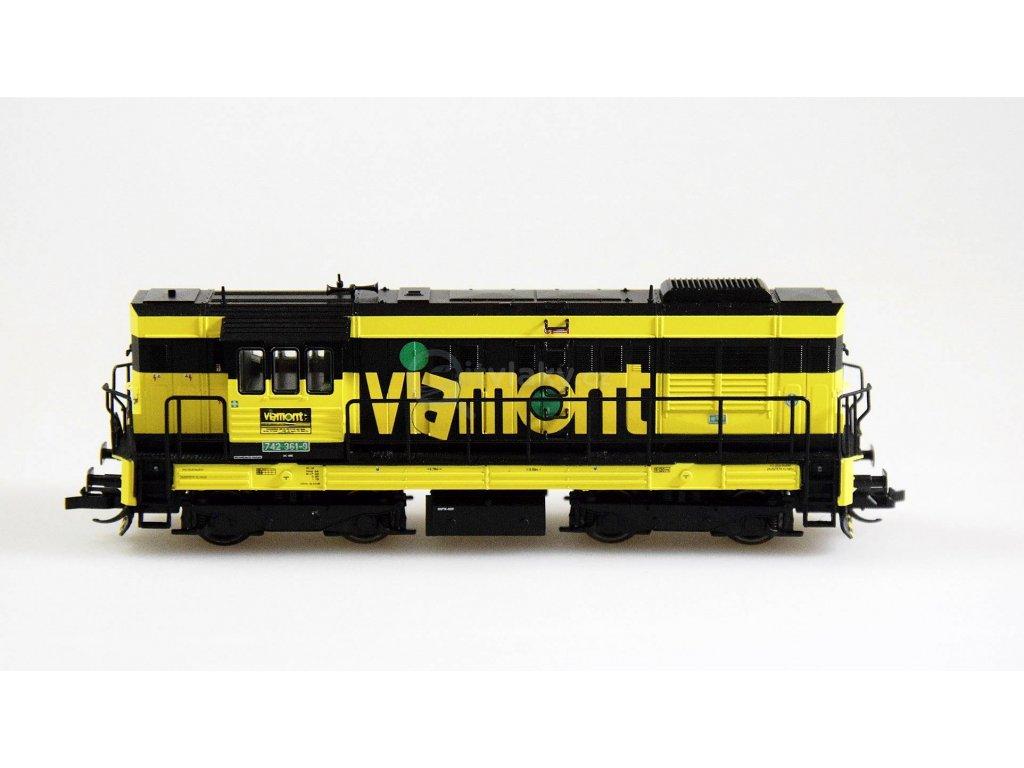 TT - Dieselová lokomotiva 742 CZ Viamont a.s., Ep. V,  Kocour / Tillig 02756
