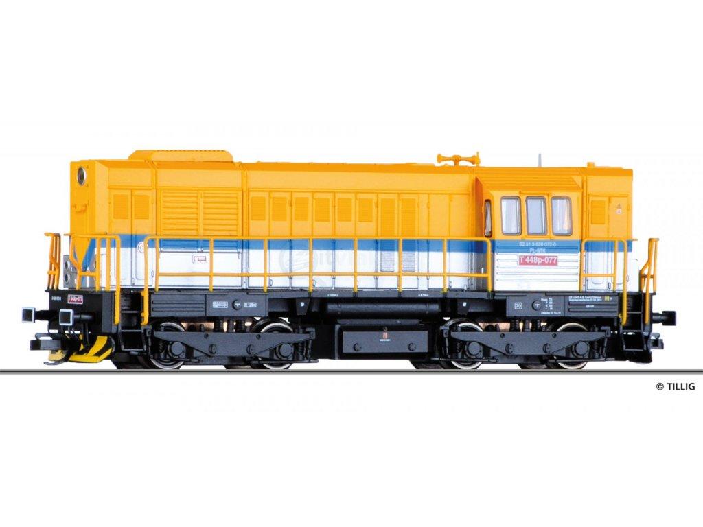 TT - dieselová lokomotiva T448p STK Wroclaw( Kocour)/ Tillig 02760