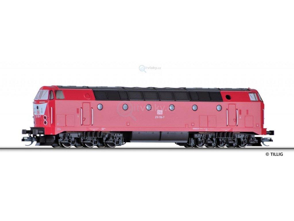 TT - Dieselová lokomotiva BR 219, DB AG / TILLIG 02792