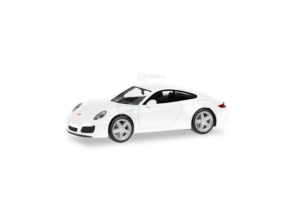 H0 - Porsche 911 Carrera 2 Coupé, bílé / Herpa 028523