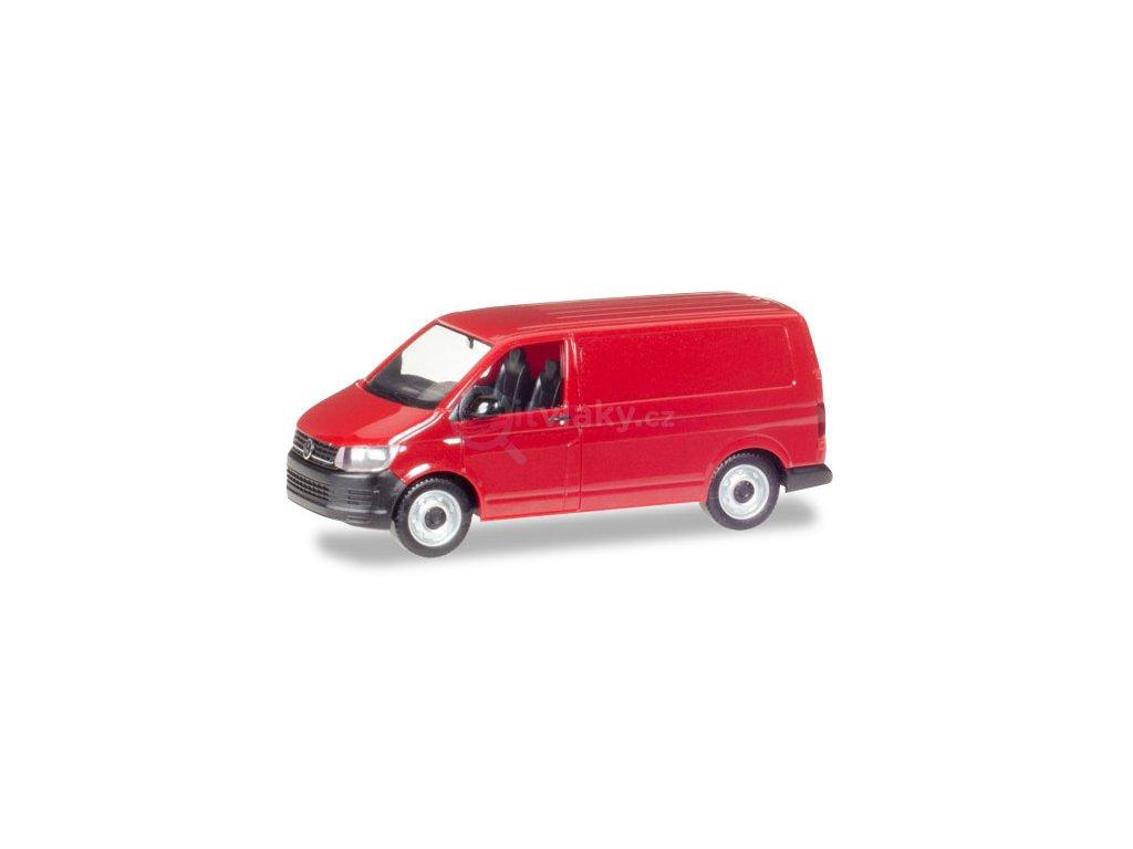 H0 - VW T6 Kombi, cherry red / HERPA 028721