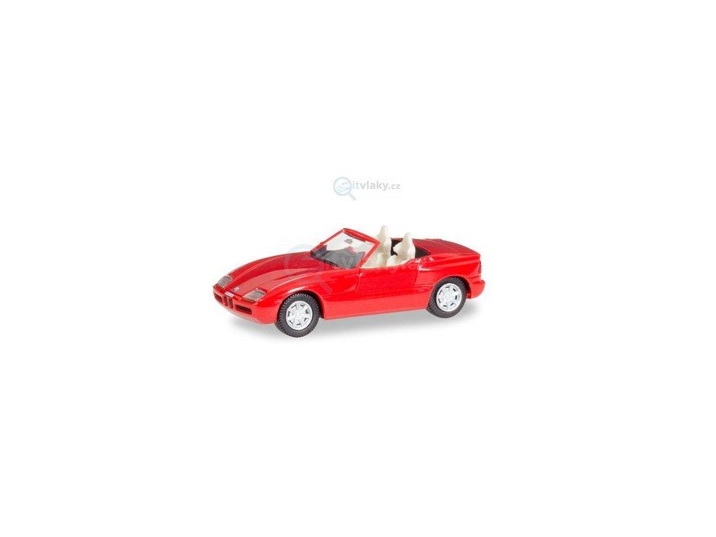"""H0 - BMW Z1 Roadster """"Herpa-H-Edition"""", červené / Herpa 028912"""