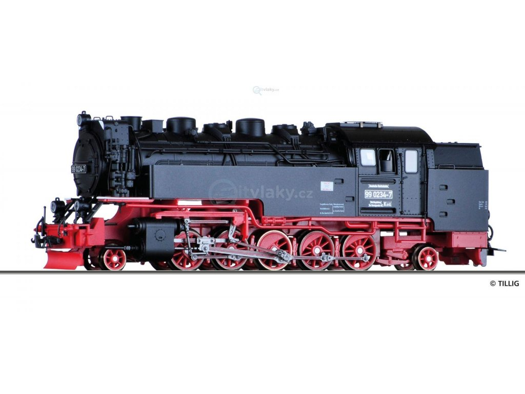 H0m - Parní lokomotiva 99 0234-7 DR / Tillig 02929