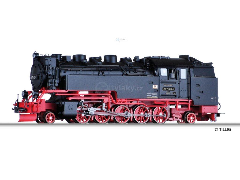 H0m - Parní lokomotiva 99 7240-7, DR / Tillig 02930