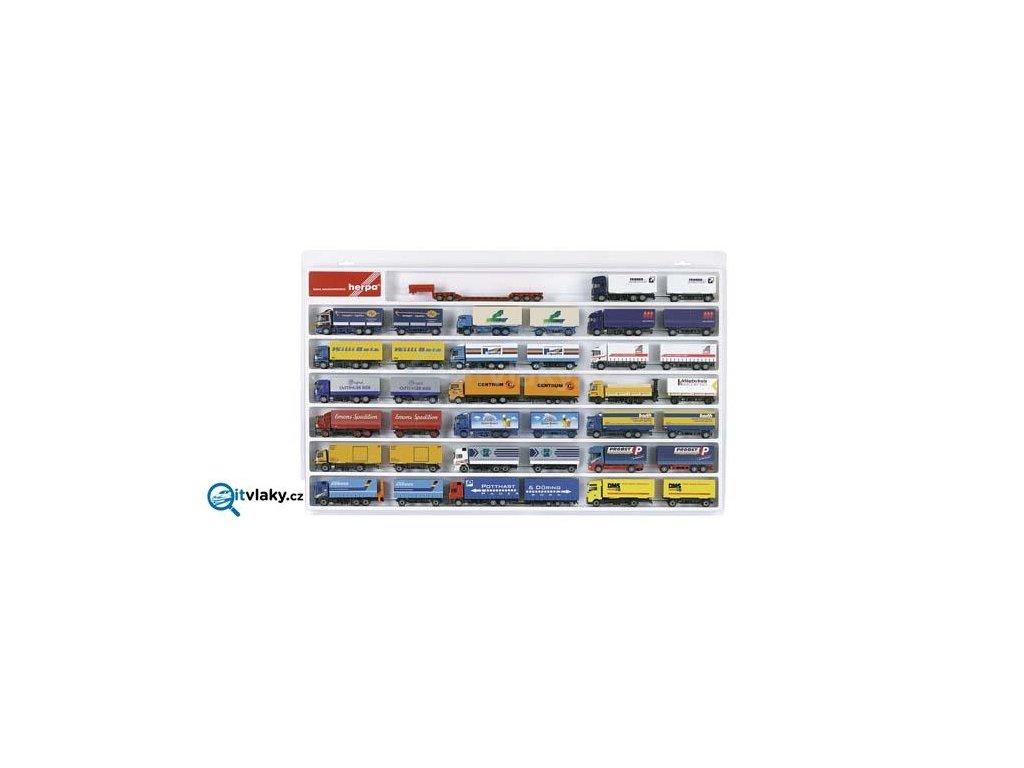 Vitrína pro kamióny HERPA, vagónky TT atd., bílá 70x45x3,5 cm / Herpa 029346
