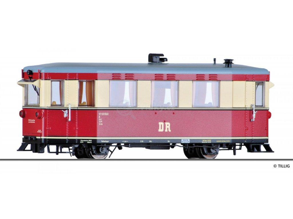 H0m - Motorový vůz 133 522, DR / Tillig 02940