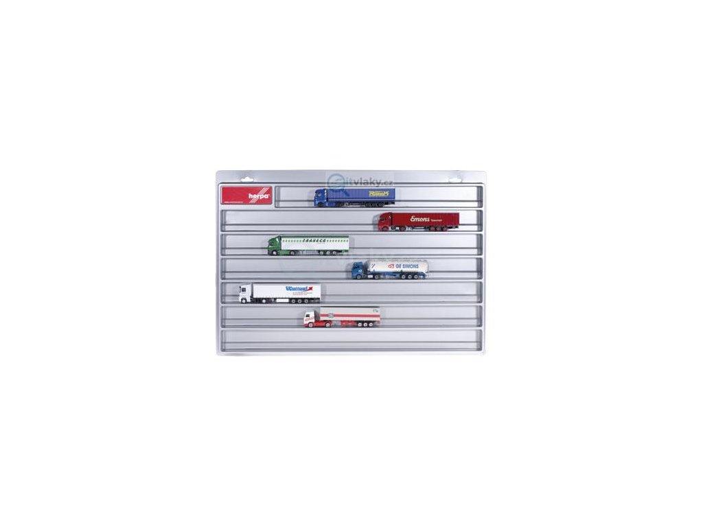 H0 - Automobilová vitrína, stříbrná / Herpa 029711