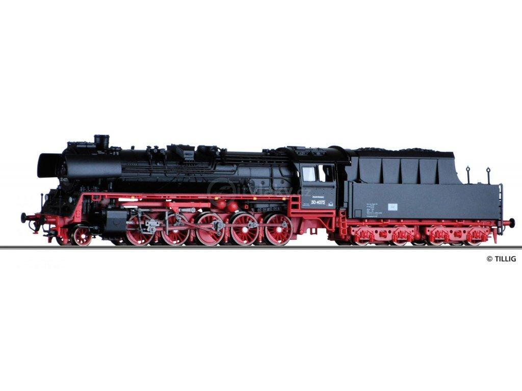 TT - parní lokomotiva BR 50.40 DR, Ep. III / Tillig 03030
