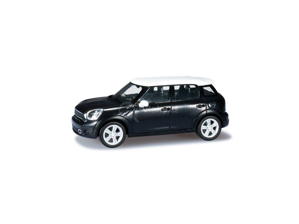 H0 -  Mini Countryman ™, černá metalíza s bílou střechou / Herpa 034760-002