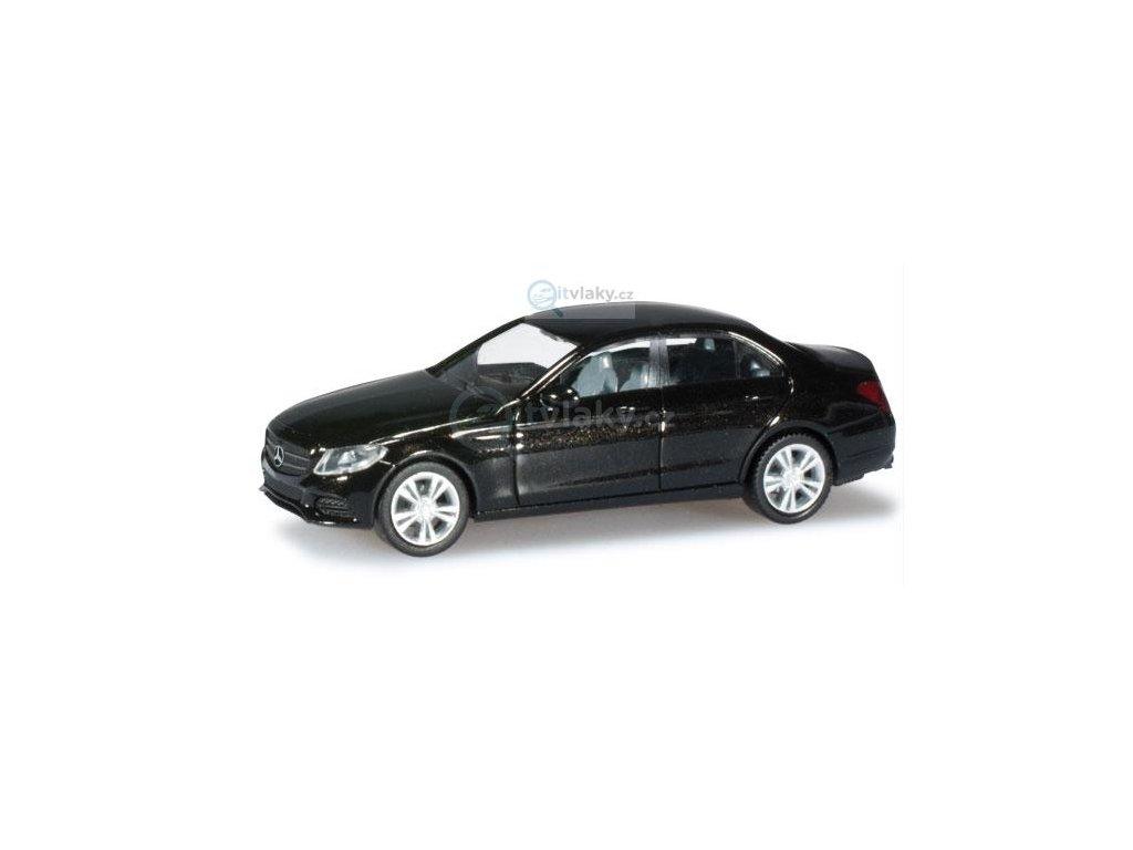 H0 - Mercedes-Benz třídy C, černá metalíza / Herpa 038324