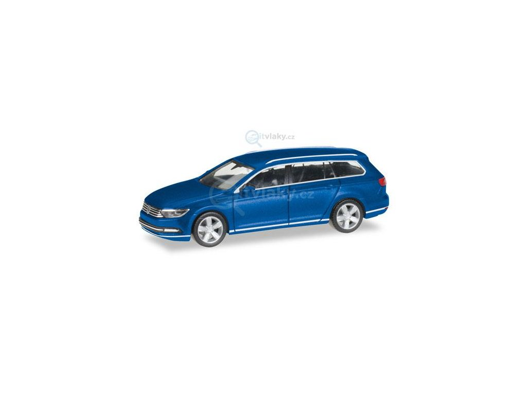 H0 - VW Passat Variant, modrá metalíza / Herpa 038423