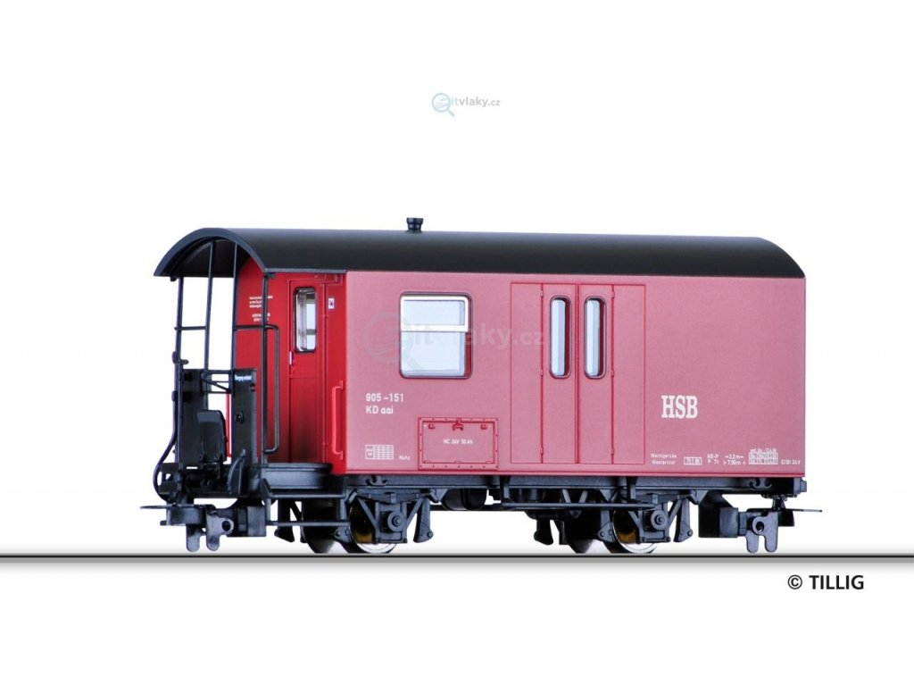 H0e Zavazadlový vůz HSB/ Tillig 03971
