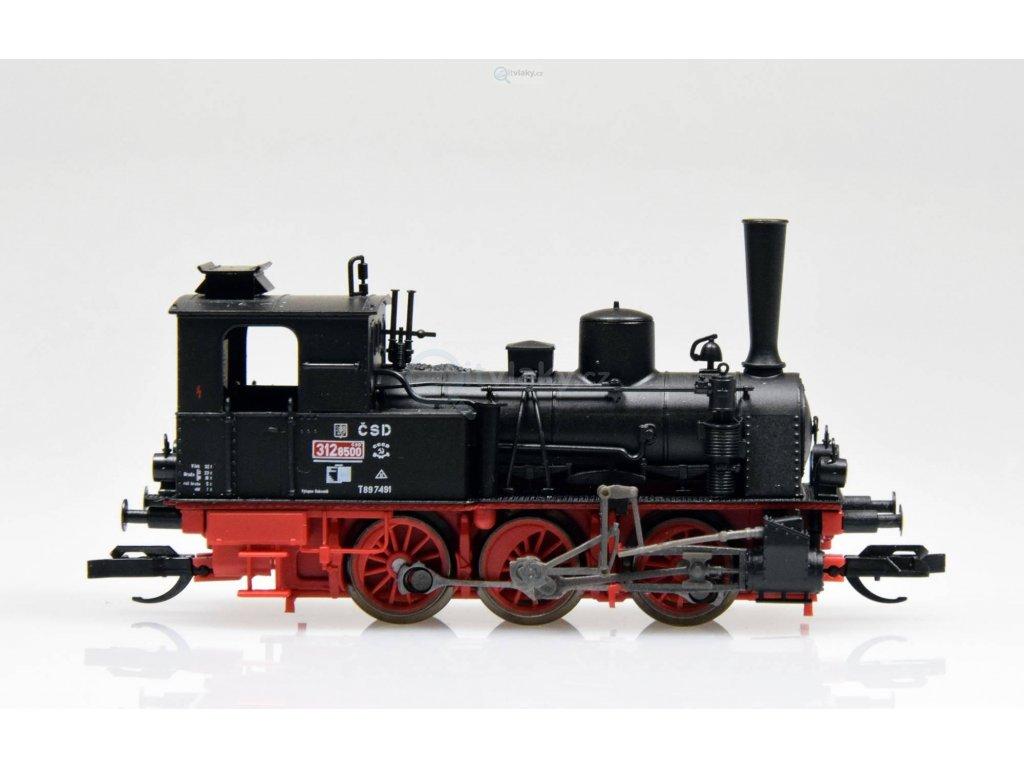 TT - DCC parní lokomotiva 312.8500 ČSD /  TILLIG 04244