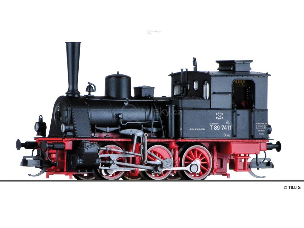 TT - Parní lokomotiva BR 89 7411, BBÖ / Tillig 04245