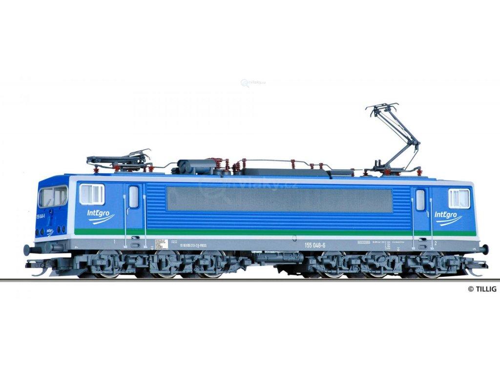 TT - Elektrická lokomotiva 155 048-6 ,,IntEgro Verkehr GmbH,, / Tillig 04322