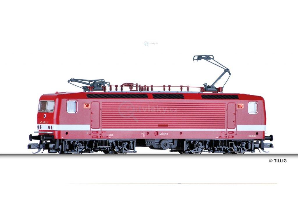 TT - Elektrická lokomotiva BR 143 352-3, DB AG / Tillig 04340