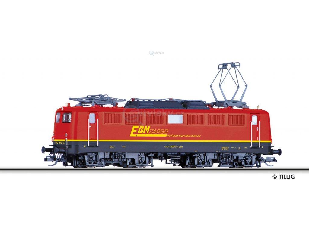 """TT - Elektrická lokomotiva BR 140 """"EBM Cargo"""" / Tillig 04393"""