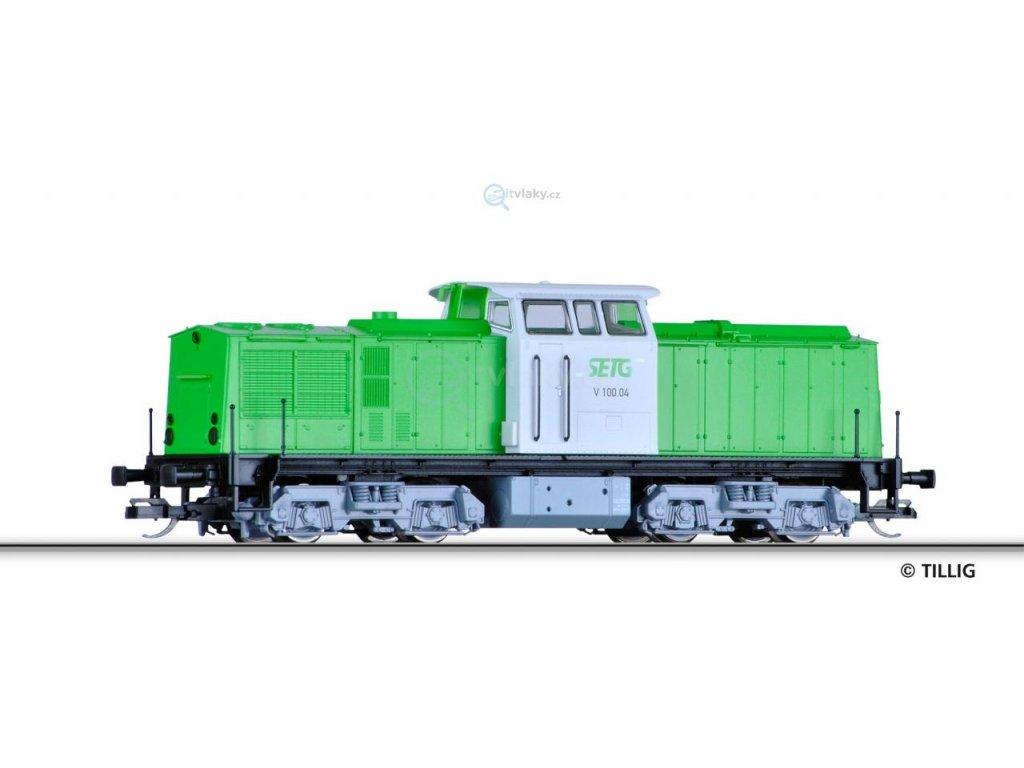 TT - Dieselová lokomotiva V 100, PRIVAT / TILLIG 04590