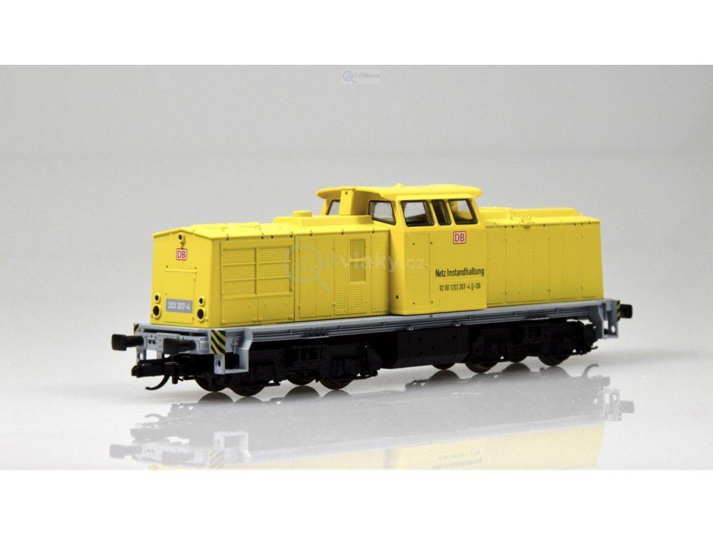 "ARCHIV TT - Dieselová lokomotiva 203 ""Bahnbau"" START, DB AG / Tillig 04598"