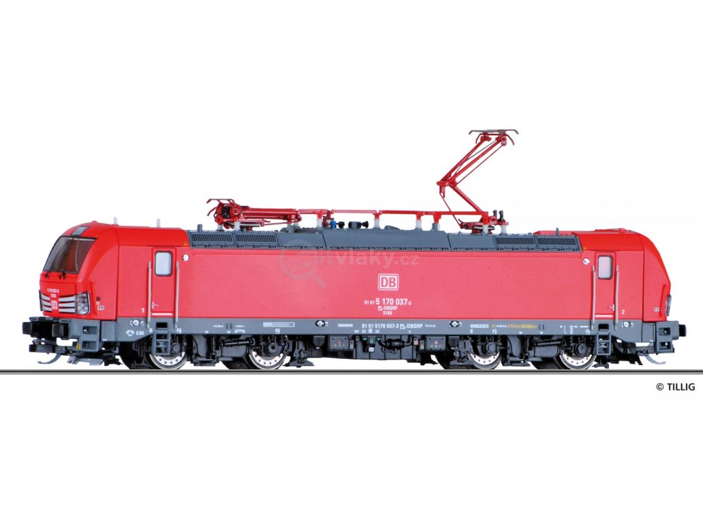 TT - el. lokomotiva Vectron 5170 DB Schenker Rail Polska /  TILLIG 04822